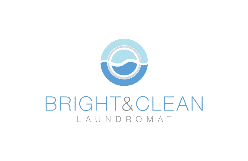 Bright and Clean Laundromat Logo