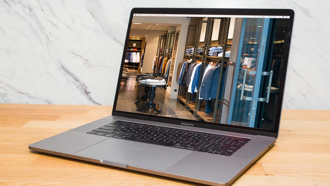 Online Business Displayed on Laptop